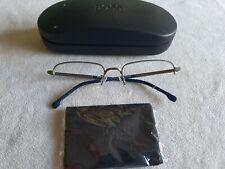 Hugo Boss gunmetal / blue glasses frames. 1108F. With case.