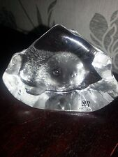 MATS JONASSON SWEDEN SCANDINAVIAN SIGNED SMALL BABY SEAL GLASS PAPERWEIGHT