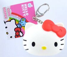HELLO KITTY COIN KEEPER Keychain Keyring SANRIO Change Purse Key Ring Chain
