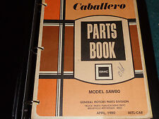 1978-1980 GMC CABALLERO  PARTS CATALOG / ORIGINAL  PARTS BOOK 1979 1980+