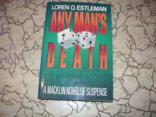 LOREN D. ESTLEMAN---ANY MAN'S DEATH---HC/DJ---1st1st1986---THE MYSTERIOUS PRESS
