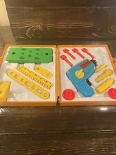 Vintage Fisher Price Tool Kit Drill play set 1977 with case  working