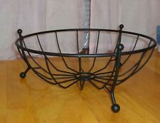"""Longaberger Wrought Iron Fruit Basket Black 13"""" Euc"""