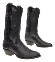 TONY LAMA Cowboy Boots 7 M Womens Black EXOTIC Lizard Leather Western Boots USA