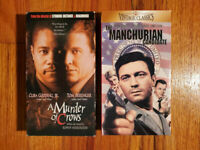(Lot2) Murder of Crows 98 Manchurian Candidate 62 VHS RARE HTF OOP Action Drama