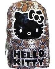 """Hello Kitty 17"""" Backpack Snakeskin Design Book Bag, New"""