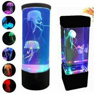 USB LED Jellyfish Lava Lamp Multi-Color Changing Aquarium Night Light Xmas Decor