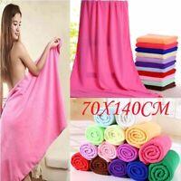 70x140cm Shower Towel Microfiber Fiber Washcloth Bath Drying Absorbent Textile