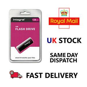 BRAND NEW Integral BLACK 128GB USB 2.0 Flash Drive - FAST & FREE DELIVERY