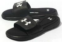 Under Armour Ignite V Sandals Men's Sliders Foam Sole Slides Flip Flops Black