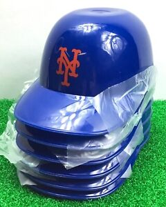 6x New York NY Mets MLB / Mini Baseball Batting Helmet / Ice Cream Snack Bowl