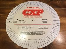 """Large 24"""" Store sign Winchester Cxp 1987 Cardboard Dial A Cartridge Selector"""