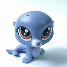 Littlest Pet Shop LPS Pets #58 Sealy Pinney Blue Seal figure kids toy gift