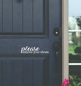 Please Remove Your Shoes Home Business Front Door Decal Sticker