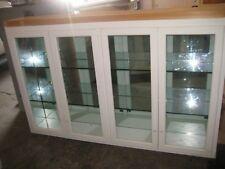 Vintage, Large Wood Kitchen/Pantry/Display Cabinet W Glass Doors