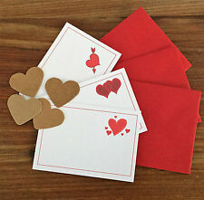 LOVE NOTES & Envelopes x 12, blank for your love message ideal Treasure Hunt