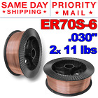ER70S-6 .030' (0.8 mm) Mild Steel MIG Welding Wire - 11 Lbs (2 Rolls)