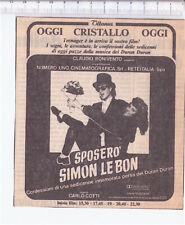 1986 italy cutting movie - ritaglio flano cinema SPOSERO' SIMON LE BON Duran