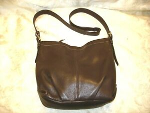COACH  Leather Brown/gray Handbag
