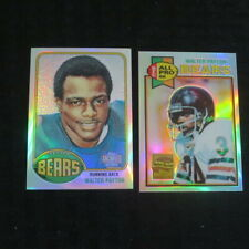 2001 Topps Archives reserve/Chrome WP4 Refractor Walter Payton Rookie reprint