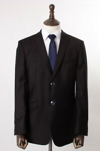 Mens Burtons Suit Brown Tailored Fit 40R W34 L31