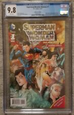 SUPERMAN / WONDER WOMAN #1 ~ CGC 9.8 ~ COMBO PACK VARIANT COVER ~ NEW 52