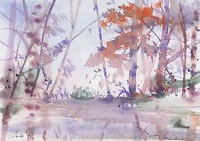 watercolor painting aquarelle original Picture566(30x21)cm PL
