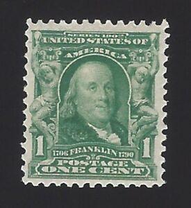 US #300 1902-03 Green Wmk 191 Perf 12 MNH F-VF SCV 27.50