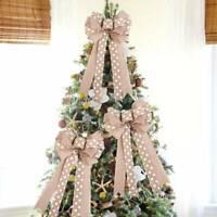 Burlap Hessian Bows Ribbon Laces Vintage Wedding Rustic Wrap Natural Decors Y