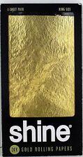 5x SHINE 24k King Size Paper - Gold 1 Sheet Goldpapier + 1x Rolls Smart Filter