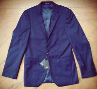 AUSTIN REED Mens Blue Navy 100% Wool Blazer Office Suit Jacket 36S BNWT