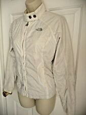 THE NORTH FACE S Jacket White Front Zip Rain Wind Proof Sexy Standing Collar