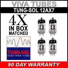 New Gain Matched Quad (4) Tung-Sol Reissue 12AX7 ECC83 Tubes - Authorized Dealer