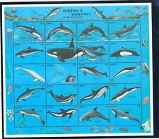 PALAU Sc 289 NH MINISHEET OF 1991 - WHALES & DOLPHINS