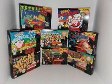 """8 Original Super Nintendo SNES """" For Display Only """" Boxes ( Edges have Wear) V20"""