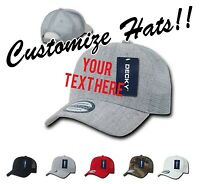 CUSTOM EMBROIDERY Personalized Customized Decky Trucker  Snapback Cap Hat 1053