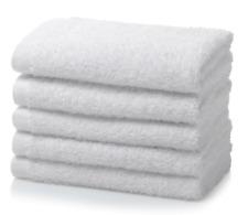 50 x 100% COTTON FACE CLOTHS PACK WHOLESALE  WHITE FLANNELS WASH CLOTHS 450GSM