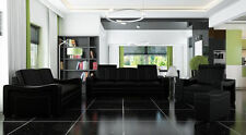 Sofa Set Pads Sofa Couch Leather Set Interior Design 3+2+1 Franco New