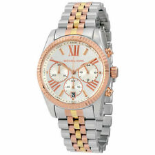 New Michael Kors MK5735 Lexington Tri-tone Ladies Chronograph Designer Watch
