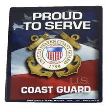U.S. Uscg Coast Guard Proud to Serve Military Mini Magnet (Car / Fridge / Other)