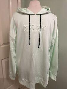 DKNY sport Ladies Hoodie Size M Pastel Neo Mint BNWT Size 10/12
