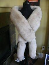 Gorgeous Hollywood Glam Gray Blue Fox Fur Stole Wrap Cape Coat Jacket Wedding