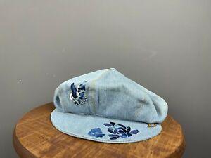 Vintage CHRISTIAN DIOR BOUTIQUE Blue Beret Hat Cap Size 57
