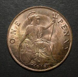 GEORGE V 1918 PENNY. VERY NICE