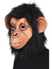 Chimp Mask Full Overhead Animal Halloween Fancy Dress Costume Accessory