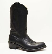 US MADE Double H 3202 Men's Black Leather Western Work Boots Size 9.5 EE