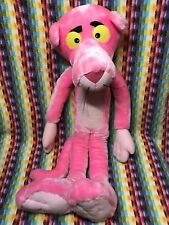 Large Pink Panther Stuffed Plush Fabric Doll 2 Feet Tall 1995 France