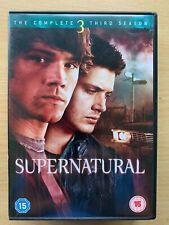 Supernatural Season 3 DVD Box Set US Teen Horror TV Series w/ Jared Padalecki