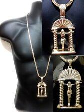 """Hip Hop  Pendant 36"""" Franco Chain Jesus Piece Necklace Arch NEW"""
