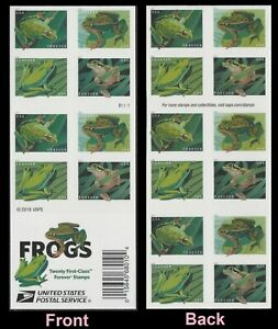 US 5395-5398 5398b Frogs forever booklet (20 stamps) MNH 2019